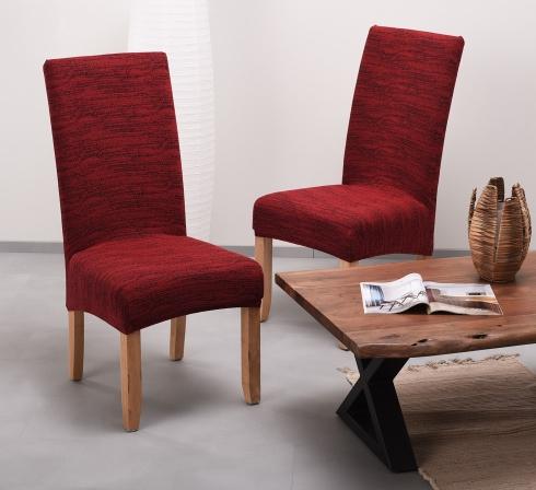 Vínové elastické napínacie poťahy na stoličky s operadlom (EP4) – JIMI Textil