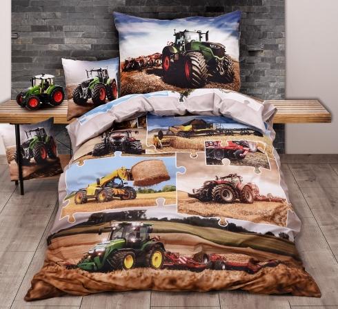 Obrazová posteľná súprava s motívom TRAKTORY