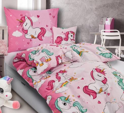Obrazová posteľná súprava bavlna exclusive JEDNOROŽCE