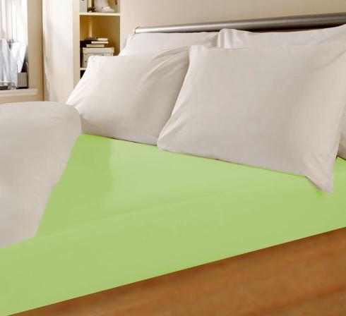 Svetlo zelené napínací jersey prostěradlo s lycrou