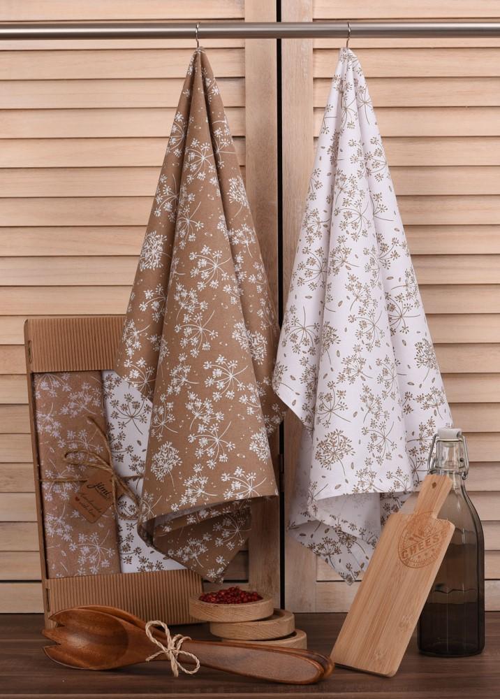 Bavlnené utierky UT56 s motívom kôpor - JIMI Textil