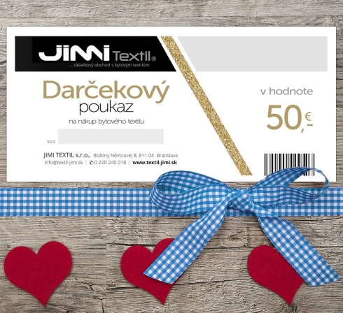 Darčekový poukaz JIMI Textil 50 EUR