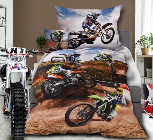 Obrazová posteľná súprava s motívom MOTOKROS