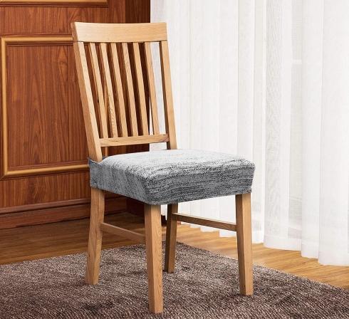 Svetlosivé elastické napínacie poťahy na sedadlá stoličiek (EP3) - JIMI Textil