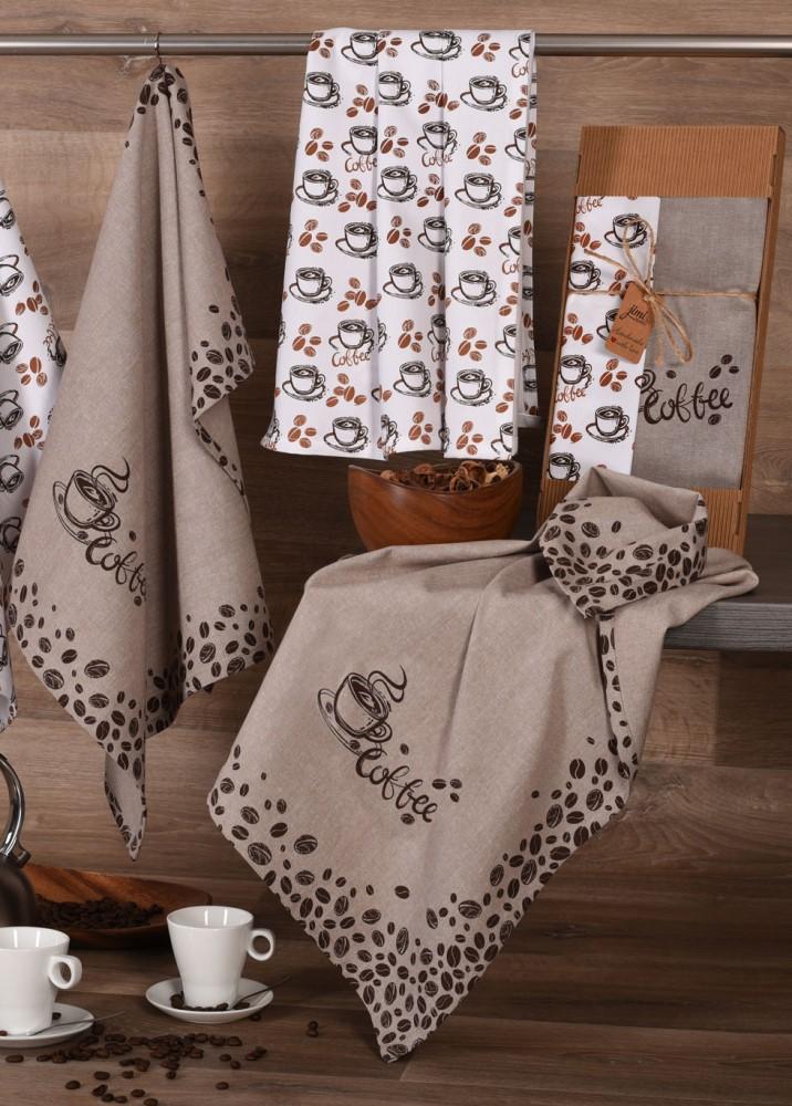 Bavlnené utierky UT51 - motív COFFEE - JIMI Textil