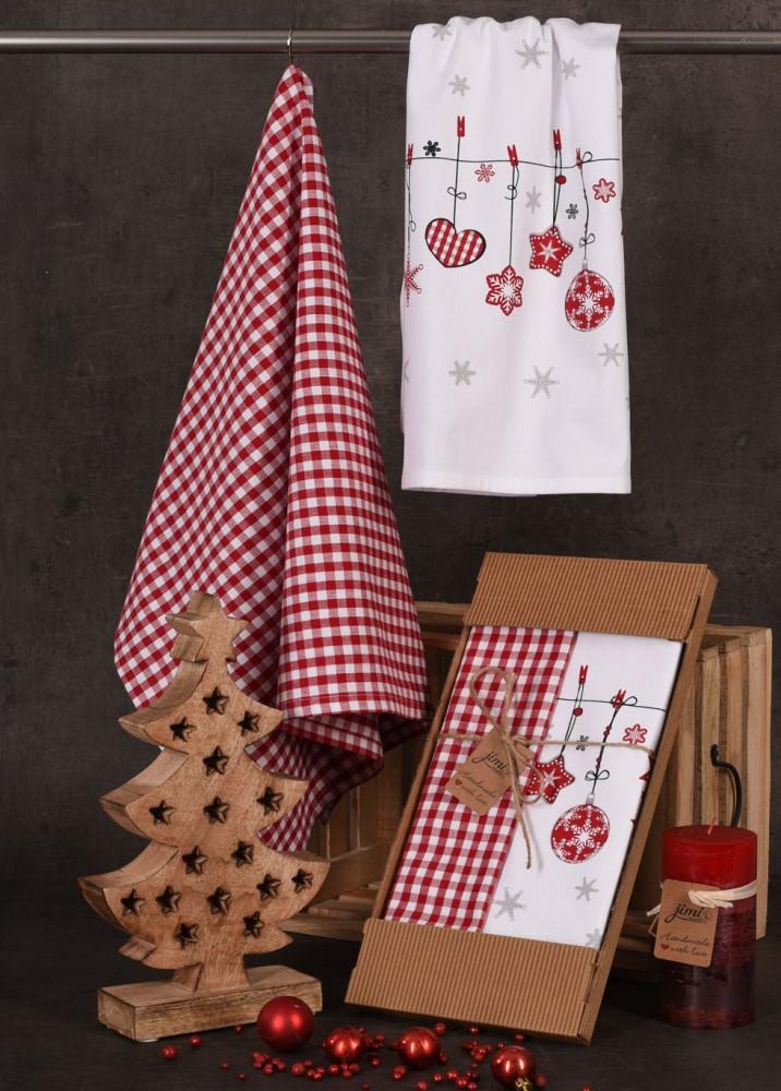 Bavlnené utierky UT52 - Vianočné ozdoby - JIMI Textil