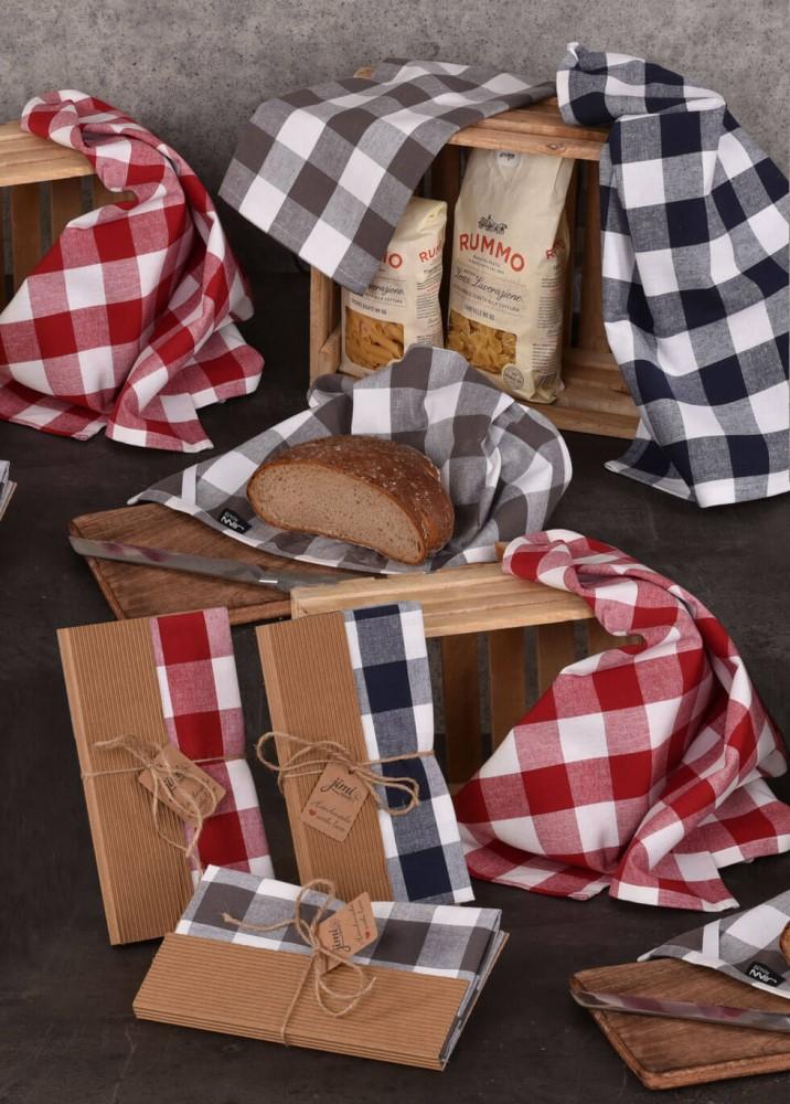 Kockované utierky na riad UT40 · JIMI Textil