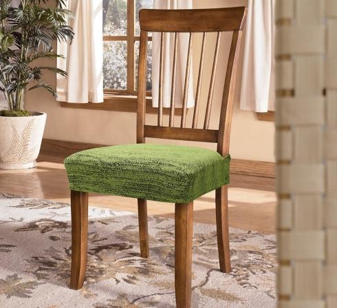 Zelené elastické napínacie poťahy na sedadlá stoličiek (EP3) - JIMI Textil
