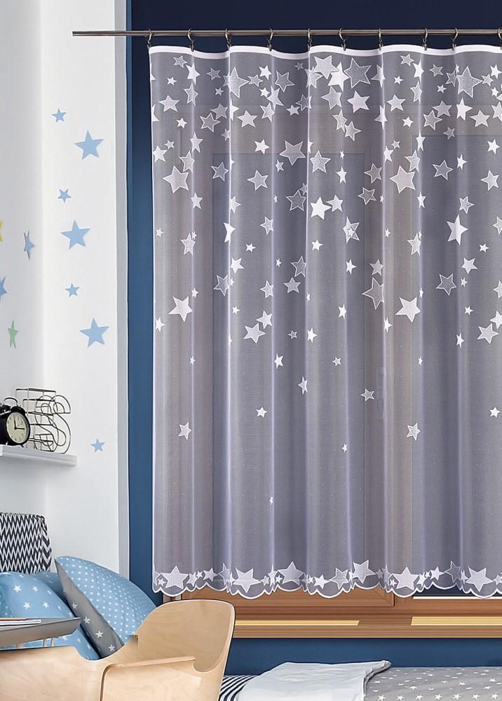 Metrážna žakárová záclona - Hviezdy