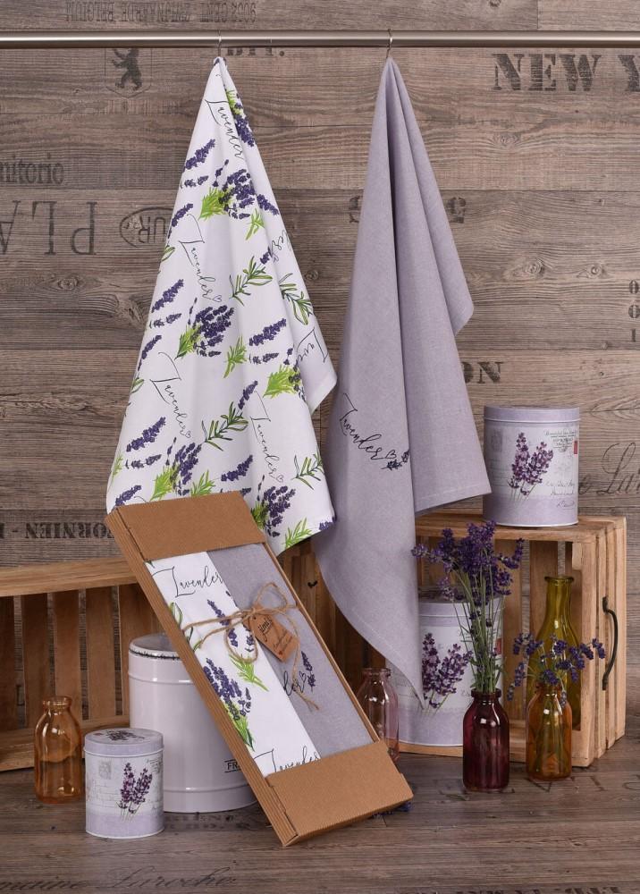 Bavlnené utierky UT46 s motívom levandule - JIMI Textil