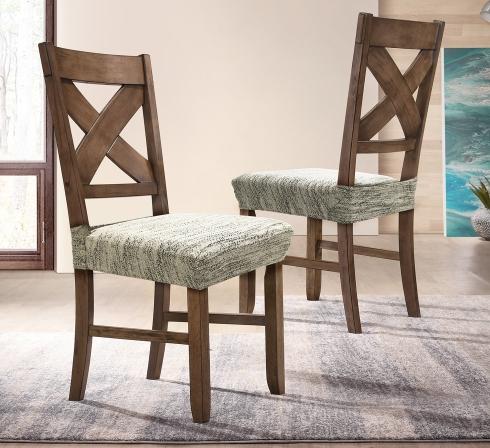 Krémové elastické napínacie poťahy na sedadlá stoličiek (EP3) - JIMI Textil