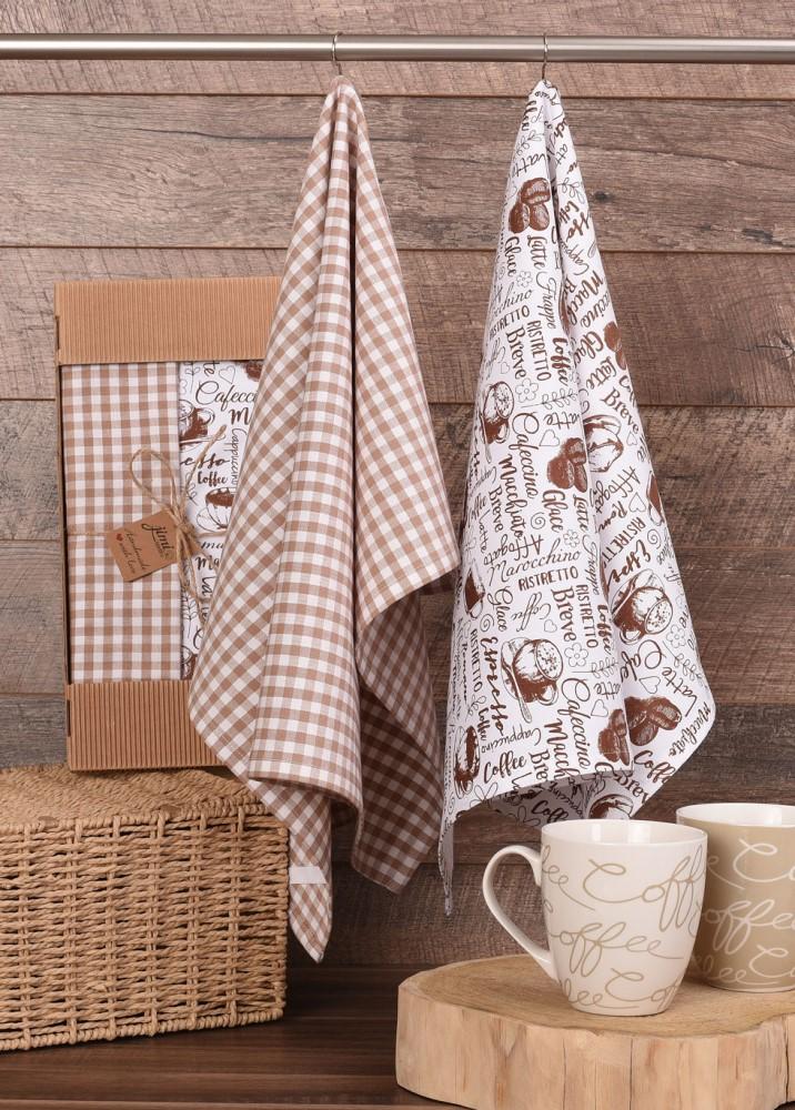 Bavlnené utierky UT61 - Motív káva - JIMI Textil