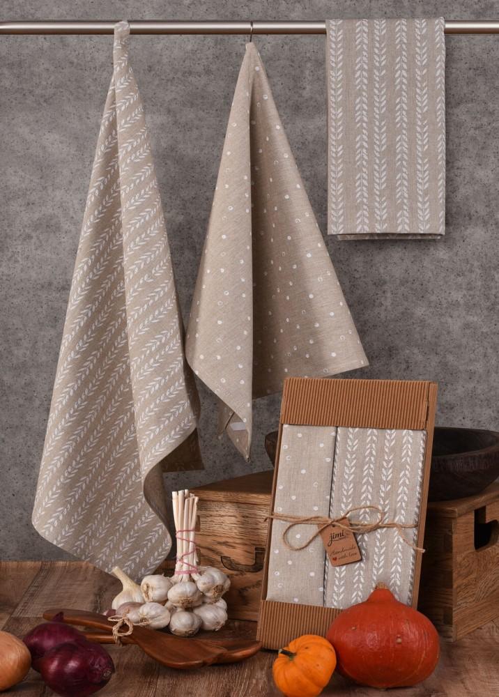 Bavlnené utierky na riad UT36 (svetlo hnedé) - JIMI Textil
