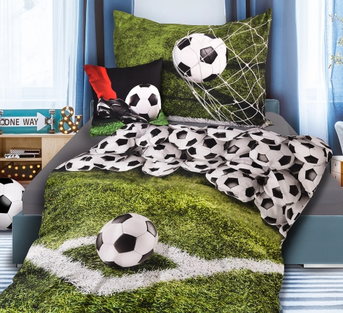 Obrazová posteľná súprava s motívom FUTBAL