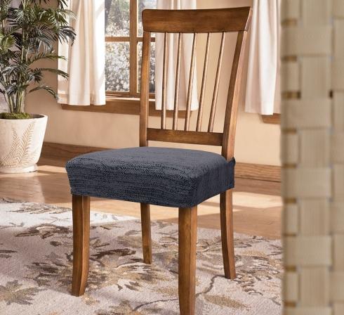 Tmavosivé elastické napínacie poťahy na sedadlá stoličiek (EP3) - JIMI Textil