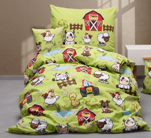 Obrazová posteľná súprava bavlna exclusive FARMA