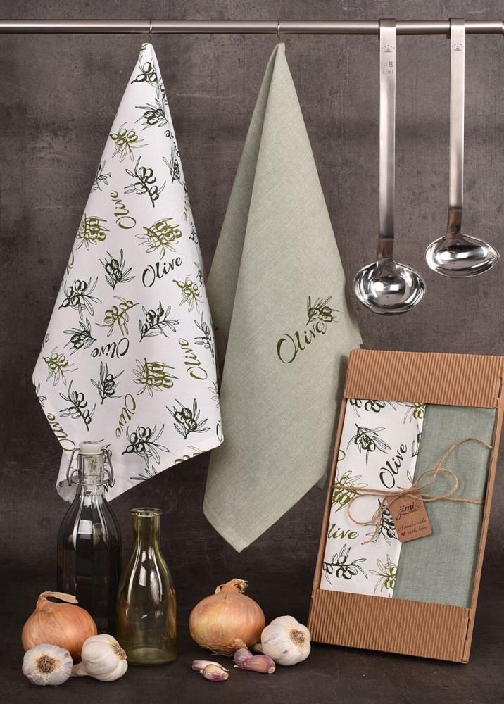 Bavlnené utierky s olivami (UT47) - JIMI Textil